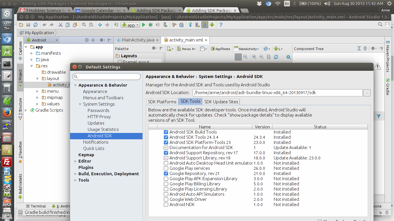 Android Studio SDK Tools