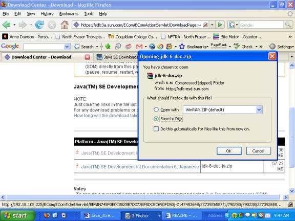 java documentation+download